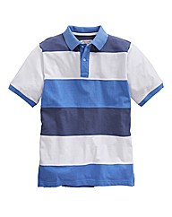 Williams & Brown Blue Stripe Polo