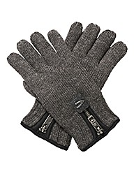 Camel Active Thinsulate 1/4 Zip Gloves