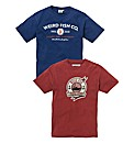 Weirdfish Pack of 2 Tshirts