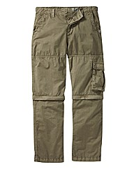 Weirdfish Zip Off Cargo Trouser Short