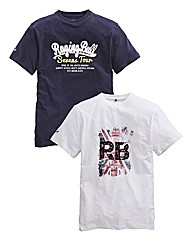 Raging Bull Pack of 2 Tshirts