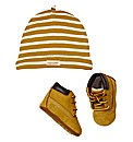 Timberland Bootie and Beanie Set