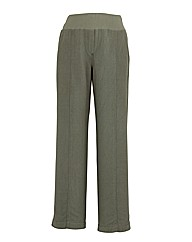 Slouch Linen Mix Wide Leg Trousers