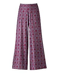 Angel Ribbons Floral Palazzo Trousers