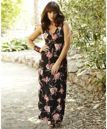 And Abigail Jersey Print Maxi Dress