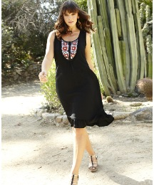 And Abigail Beaded Neck Tunic Dress