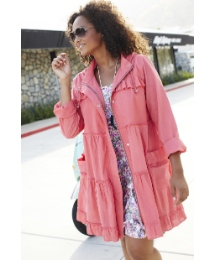 Angel Ribbons Lightweight Parka Jacket