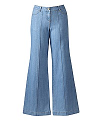 Pixie Wide Leg Jeans Length 34in
