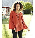 Angel Ribbons Bell Sleeve Top