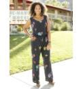 Angel Ribbons Flower Print Jumpsuit