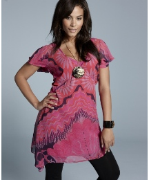 Zandra Rhodes Print Tunic Dress