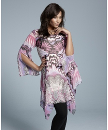 Zandra Rhodes Lace Mountain Print Tunic