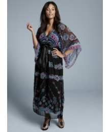 Zandra Rhodes Kimono Style Maxi Dress