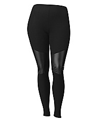 Grazia PU Panel Trim Leggings