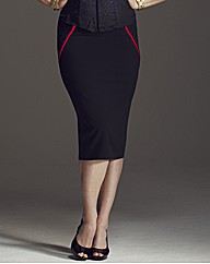 Anna Scholz Contrast Pencil Skirt