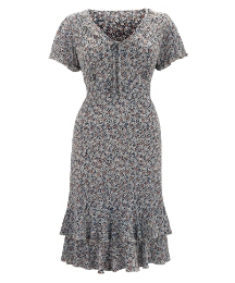 Jeffrey & Paula Tie Neck Dress