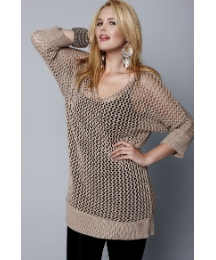 Jeffrey & Paula Slouchy Open Knit Jumper