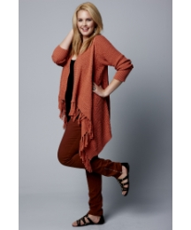 Jeffrey & Paula Fringe Shrug Cardigan