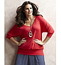 Jeffrey & Paula Jersey V Neck Top