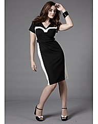 Bespoke Monochrome Silhouette Dress