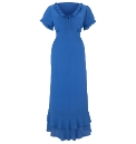 Jeffrey & Paula Plain Tie Neck Dress