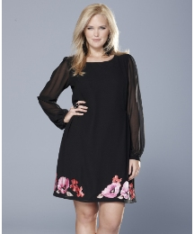 Rise Floral Applique Dress