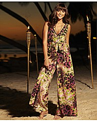 Sequins & Pearls Print Jumpsuit