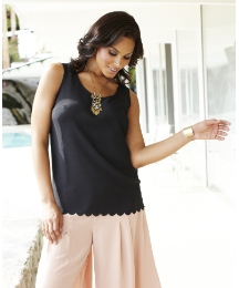 Grazia Scalloped Hem Camisole Top