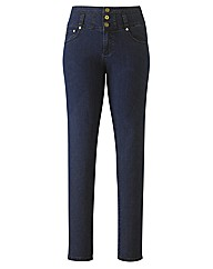 Peaches High Waisted Slim Leg Jeans