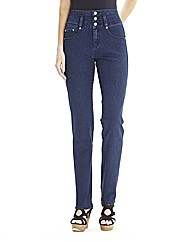 High Waisted Slim Leg Jeans 33in