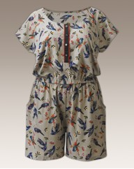 Bird Print Playsuit