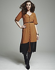 Bespoke Shirt Dress with Belt