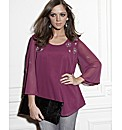 And Abigail Bead Trim Blouse