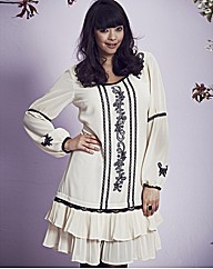 Frock & Frill Embroidered Tunic Top
