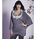 Frock & Frill Lace Trim Cape Jersey Top