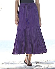Crinkle Maxi Skirt