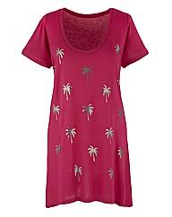 Palm Print Jersey Top