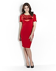 Magisculpt Dress With Lace Trim
