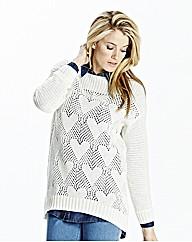 Heart Stitch Knitted Tunic