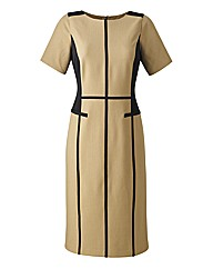 Colour Block Tailored Dress 45in