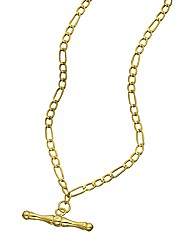 9 Carat Gold T-bar Necklace