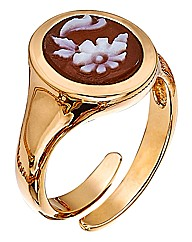 Cameo Italiano Vermeil Ring