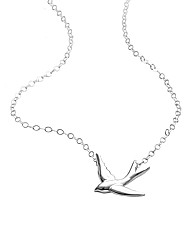 Sterling Silver Swallow Drop Pendant