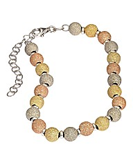 Sterling Silver Multi Beaded Bracelet