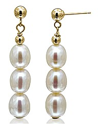 9 Carat Gold Pearl Drop Earrings