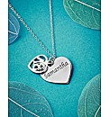 Sterling Silver Double Heart Age Pendant