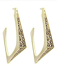 Kardashian Jewellery Pave Hoop Earrings