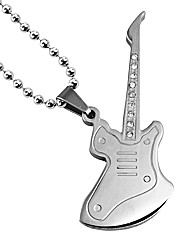 Gents Stainless Steel Guitar Pendant