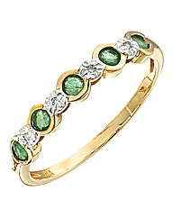 9 Carat Gold Emerald Ring