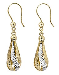 9 Carat Gold Pear-Shaped Earrings